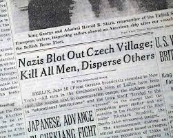 We Must Remember Lidice:  June 10,1942